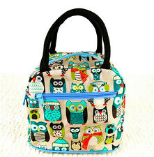 Thirty one 31 gifts women handbag Owl birds Lunch bag Canvas tote Cosmetic Bag