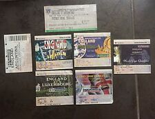 6x England Wembley tickets. Various Including last at old Wembley v Germany.