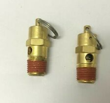 Air Compressor Safety Pop Off Valve 150 PSI ASME CODED X 2 Pieces