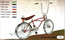 "20"" Lowrider bike with 72 spokes coaster brake pick up : 6 colors"