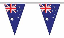 AUSTRALIA 20 metre TRIANGLE BUNTING 30 FLAGS flag TRIANGULAR 54 FLAGS AUSTRALIAN