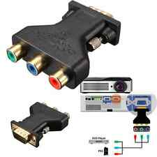 3 RCA RGB Video Female To HD 15-Pin VGA Styple Component Video Jack Adapter Plug