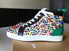 Mens Christian Louboutin Louis Flat Multi Color Pik Pik Sneakers Size 42 (RARE)
