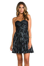 ERIN FETHERSTON RUNWAY FLORA DRESS BLK MLT LX Size 6 Was $ 385