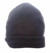 TOPMAN Men`s Navy Blue Solid Knitted Winter Beanie Cap One Size 56D29C NWT $16
