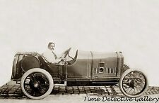 Race Car Driver Georges Boillot, Indianapolis 500 - 1914 - Historic Photo Print