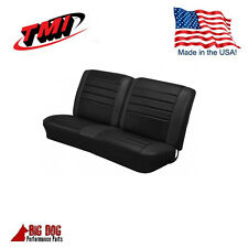 1965 Chevelle Coupe, Front Bench & Rear Seat Upholstery Black Made in USA by TMI