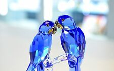 Swarovski 2014 SCS Hyacinth Macaws Blue Bird Couple 5004730 Brand New In Box