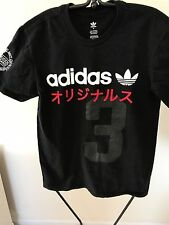 Adidas Originals Trefoil Yeezy Japanese Black  T-shirt Men's Sz Small Red/White