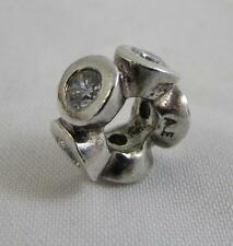 Genuine Pandora Clear Lights Silver Spacer Charm 790226CZ