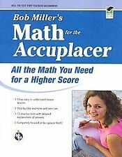 BOB MILLER'S MATH FOR THE ACCUPLACER - BOB MILLER (PAPERBACK) NEW