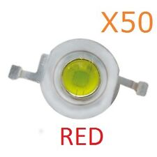 1W RED LED Diode Lamp Beads 1 Watt High power Super Bright (50 Pieces)