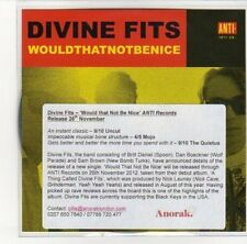 (DL247) Divine Fits, Would That Not Be Nice - 2012 DJ CD