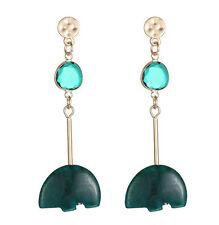 MARNI H&M Green Irregular Shape Stone Pendant Earring Set