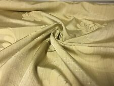 BEAUTIFUL BEIGE GOLD DAMSK CURTAIN UPHOLSTERY FABRIC 2.5 METRES