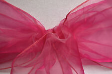 PACK OF 10 PREMIUM QUALITY WEDDING CHAIR COVER SASHES BOWS ORGANZA NEW UK