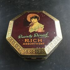 Vintage Advertising Sweets Biscuit Tin Dainty Dinah Rich Assortment by GW Horner