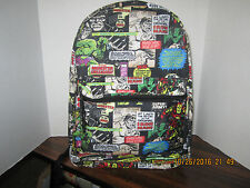 "MARVEL Comic Book Bag Backpack 16"" Backpack THOR IRON MAN Hulk NEW 2016"