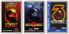 MORTAL KOMBAT 1 2 3 SEGA MEGA DRIVE COLLECTION OF 3 FRIDGE MAGNETS IMANES NEVERA