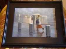 ORIG NEW YORK CITY RAINY DAY COLUMBUS CIRCLE TAXI CAB PAINTING BRUCE BRAITHWAITE