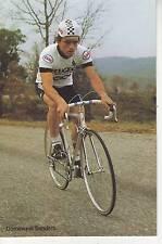 CYCLISME carte cycliste DOMINIQUE SANDERS équipe PEUGEOT ESSO MICHELIN 1981