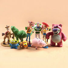 9Pcs Toy Story 3 Buzz Lighter Woody Jessie Figures Dinosaur Lotso Dot Kids Doll