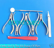 Ortho Set Up Tray Kit Range Of Professional Pliers - Orthodontic Instruments