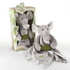 Ekko the Elephant Plush Rattle Lovie with Crinkle Leaf Baby Shower Gift