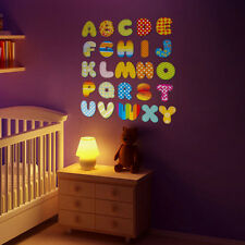 A-Z Alphabet Cartoon Mural Decal Wall Sticker for Kids Room Decor Removable  US