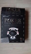 POKER Texas Hold'em coffret suite Royale jeu pc + dvd + 2 livres