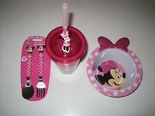 Minnie Mouse 4 Piece Dining Set Tumbler, Bowl, Fork and Spoon