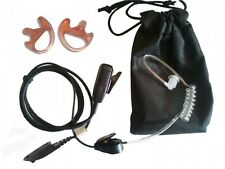 MOTOROLA GP340 covert earpiece, twin earmoulds & carry pouch package