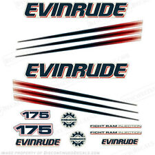 Evinrude 175hp Bombardier Outboard Decal Kit - 2002-2006 Engine Stickers
