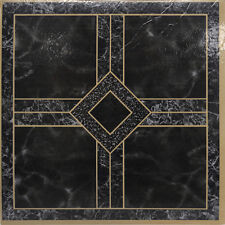 Black Marble Vinyl Floor Tiles 40 Pcs Self Adhesive Flooring -Actual 12'' x 12''