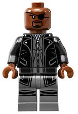 LEGO MARVEL SUPER HEROES AVENGERS NICK FURY BLACK SUIT SHIELD HELICARRIER 76042