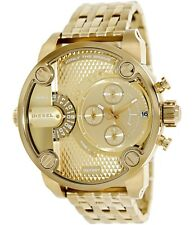 *NEW* Diesel DZ7287 LITTLE DADDY Mens Dual time Chronograph Gold watch RRP- 325$