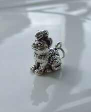 CAT WITH MOUSE 3D CHARMS CHARM 925 STERLING SILVER