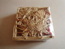 Scandinavian Straw Christmas Ornaments 55 pc Basket Stars Angels Snowflakes #104