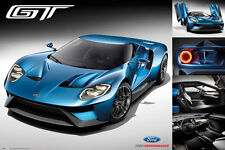 FORD GT - 2016 POSTER - 24x36 - SPORTS CAR 34146