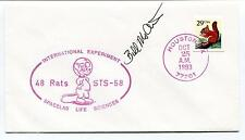 1993 International Experiment 48 rats Spacelab Life Sciences Space Cover SIGNED