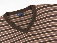 (CR952) GANT JUMPER SWEATER ALPACA WOOL V-NECK ORIGINAL SIZE XL
