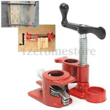"Heavy Duty Quick Release 3/4"" Wood Gluing Pipe Clamp Set Woodworking Cast Iron"