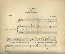 Romanza Faust Eseguita dal Tenore Campanini Spartito per Canto e Pianoforte 1931