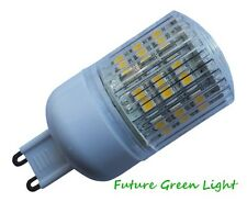 G9 48 SMD LED 240V 3W 240LM WHITE BULB WITH COVER ~45W