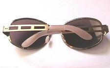 PSYCHEDELIC 1960s MEN GOLD METAL SUNGLASSES -UNIQUE DESIGN -MADE IN GERMANY- NEW