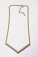 SMART ADJUSTABLE GOLD TONE CHAIN NECKLACE CHIC TRIANGLE-SHAPED DETAIL (CL28)