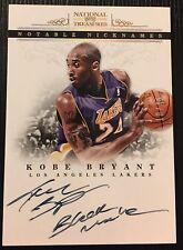 2012-13 national treasures Kobe Bryant Notable Nicknames Black Mamba Auto 10/49