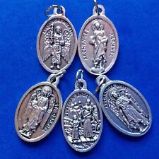 4 ARCHANGEL Saint Medal + Guardian Angel St Michael Gabriel Raphael Uriel 5Pcs
