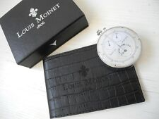 RARE SET LOUIS MOINET 1-ST EVER CHRONOGRAPH LIMITED USB+LEATHER CARD HOLDER CASE