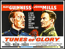 TUNES OF GLORY Movie POSTER 22x28 Half Sheet B Alec Guinness John Mills Dennis